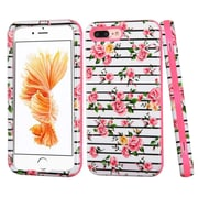 Insten Fresh Roses Hard Hybrid 3-Layer Cover Case For Apple iPhone 7 Plus - Pink/White