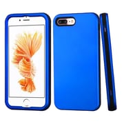 Insten 3-Layer Soft Silicone Hard Plastic Hybrid Case For Apple iPhone 7 Plus - Blue/Black