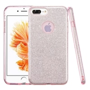 Insten Glitter Hybrid Hard Plastic / Soft Flexible Rubber Case For iPhone 7 Plus - Pink