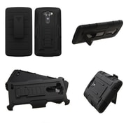 Insten Car Armor Hard Dual Layer Plastic Silicone Cover Case w/Holster For LG G3 - Black