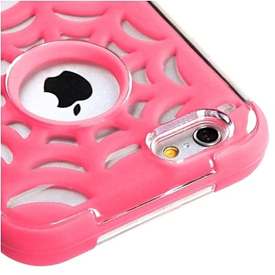 """""Insten Pink Spider Web GloCase Hybrid Hard Shockproof Case for Apple iPhone 6 6S 4.7"""""""""""""" 2593179"