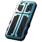 "Insten Cross Hard Hybrid Rugged Shockproof Metallic Silicone Cover Case For iPhone 6S 6 4.7"" - Blue/Black"