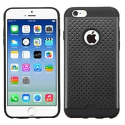 Insten Hard Hybrid Rugged Shockproof TPU Cover Case For Apple iPhone 6 6S - Black