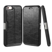 Insten Shock Absorbing Folio Leather Wallet Stand Case with ID Card Slot For iPhone 6s 6 - Black (Premium Quality)