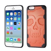Insten Skullcap Hard TPU Case For Apple iPhone 6/6s - Orange/Black