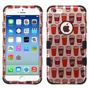 Insten Tuff Give Me Coffee Hybrid Soft Hard Case Cover (3-Piece Style) for iPhone 6 / 6s - Rose Gold