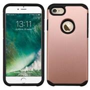 Insten Dual Layer Soft TPU Hard Plastic Ultra Slim Case For iPhone 7 - Rose Gold/Black