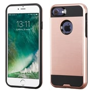 Insten Dual Layer Hybrid Soft TPU Hard Shell Case For Apple iPhone 7 - Rose Gold/Black