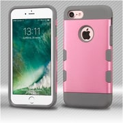 Insten Rubberized Pearl Pink/Iron Gray TUFF Trooper Hybrid Dual Layer Case Cover for Apple iPhone 7