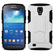 Insten White/Black Car Armor Stand Case Rubberized For Samsung Galaxy S4 Active