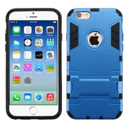 Insten Hard Dual Layer Rubberized Silicone Case w/stand For Apple iPhone 6/6s - Blue/Black