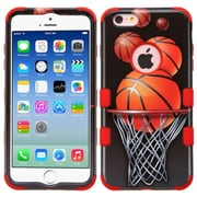 Insten Basketball Hoop Hard Hybrid Silicone Case For iPhone 6 / 6s - Black/Orange