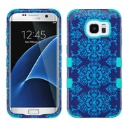 Insten Tuff Damask Hybrid Soft Hard Case Cover (3-Piece Style) for Samsung Galaxy S7 Edge - Blue