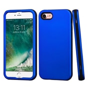 Insten Titanium Dark Blue/Black Hybrid Dual Layer Case Cover for Apple iPhone 7
