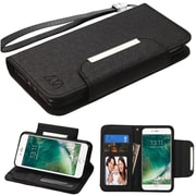 Insten Black Wallet Leather Flip Case (with Magnetic Closure) for Apple iPhone 7