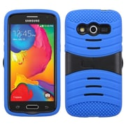 Insten Wave Symbiosis Silicone Hybrid Rubber Hard Case with Stand For Samsung Galaxy Avant - Blue/Black
