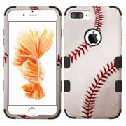 Insten Tuff Baseball Hard Dual Layer Rubber Silicone Case For Apple iPhone 7 Plus - White/Orange