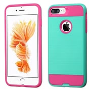 Insten Dual Layer Hybrid Soft TPU Hard Shell Case For Apple iPhone 7 Plus - Teal/Pink