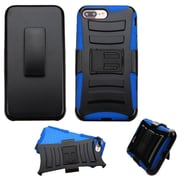 Insten Hard Dual Layer Hybrid Case with Holster Belt Clip Kickstand For iPhone 7 Plus - Black/Blue