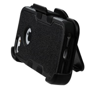 Insten Tuff Hybrid Holster Kickstand Belt Clip Case For iPhone SE / 5 / 5S - Black (Dual Layer Design & Shock Absorbent)