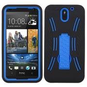 Insten Skin Hybrid Rubber Hard Case w/stand For HTC Desire 610 - Black/Blue