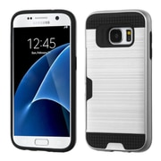 Insten Hard Dual Layer Case For Samsung Galaxy S7 - Silver/Black