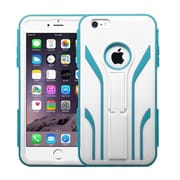 Insten Extreme Tuff Hard Dual Layer Rubber Silicone Cover Case w/stand For Apple iPhone 6 Plus - White/Blue