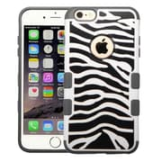 Insten Zebra Skin/Iron Gray TUFF Merge Hybrid Hard Shockproof Silicone Protective Case For iPhone 6S Plus / 6 Plus 5.5""
