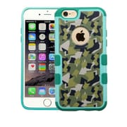 Insten Camouflage Hard Rubberized Cover Case For Apple iPhone 6 Plus/6s Plus - Green/Black