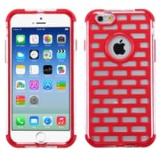 Insten Red Brick GloCase Hybrid Hard Shockproof Cover Case for Apple iPhone 6 6S 4.7""