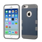 Insten Dual Layer Hybrid Hard PC/TPU Shockproof Case Cover for iPhone 6 6s - Blue/Gray