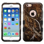 Insten Tuff Vines Hard Hybrid Rubber Coated Silicone Cover Case For Apple iPhone 6/6s - Yellow/Black