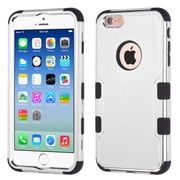 Insten Tuff Hard Hybrid Silicone Cover Case For Apple iPhone 6/6s - Silver/Black