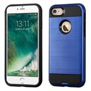 Insten Dual Layer Soft TPU Hard Plastic Ultra Slim Case For iPhone 7 - Blue/Black