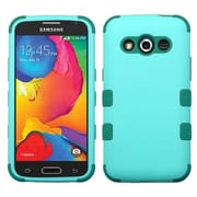 Insten Hybrid Rugged Shockproof Rubber Hard Case For Samsung Galaxy Avant G386T - Baby Green/Forest Green