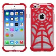 "Insten Red Spider Web GloCase Hybrid Hard Shockproof Case for Apple iPhone 6 6S 4.7"""