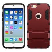 Insten Hard Hybrid Shockproof Rubber Coated Silicone Cover Case with Stand For Apple iPhone 6/6s - Red/Black