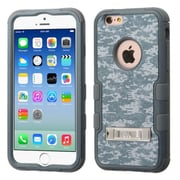 Insten Hybrid 3-Layer Tuff Hybrid Hard Case Cover with Silicone Shell w Stand for iPhone 6 6S - Camouflage Gray/White