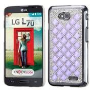 Insten Hard Bling Case For LG Optimus Exceed 2 VS450PP Verizon/Optimus L70 /Realm - Silver/Purple