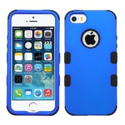Insten Tuff Hard Dual Layer Silicone Cover Case For Apple iPhone SE 5S 5 - Blue/Black
