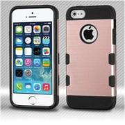 Insten Slim Dual Layer Hybrid Shockproof Protection Case TPU Hard Shell Cover For iPhone SE 5 5S - Rose Gold/Black