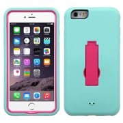"Insten Symbiosis Skin Dual Layer Rubber Hard Cover Case For iPhone 6S Plus 6 Plus 5.5"" - Teal Green/Hot Pink"