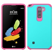 Insten 2-Layer Hybrid Protective Cover Case For LG Stylo 2 / Stylus 2 - Teal/Hot Pink