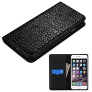 Insten Flip Leather Crocodile Skin Cover Case w/card holder For Apple iPhone 6s Plus / 6 Plus - Black