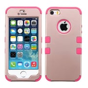 Insten Tuff Hard Hybrid Rubberized Silicone Case For Apple iPhone SE 5S 5 - Rose Gold/Pink