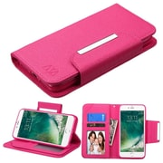 Insten Hot Pink Wallet Leather Flip Case (with Magnetic Closure) for Apple iPhone 7