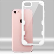 Insten Ultra Protective Crystal Clear Hard Back Panel Case with Soft Rubber Bumper For iPhone 7 - Clear/White