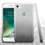 Insten Glitter Hybrid Hard Plastic/Soft Flexible Rubber Case For iPhone 7 - Black