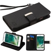 Insten Black Wallet Leather Case with 6 card slots For Apple iPhone 7