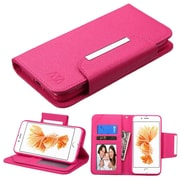 Insten Hot Pink Wallet Leather Flip Case (with Magnetic Closure) for Apple iPhone 7 Plus